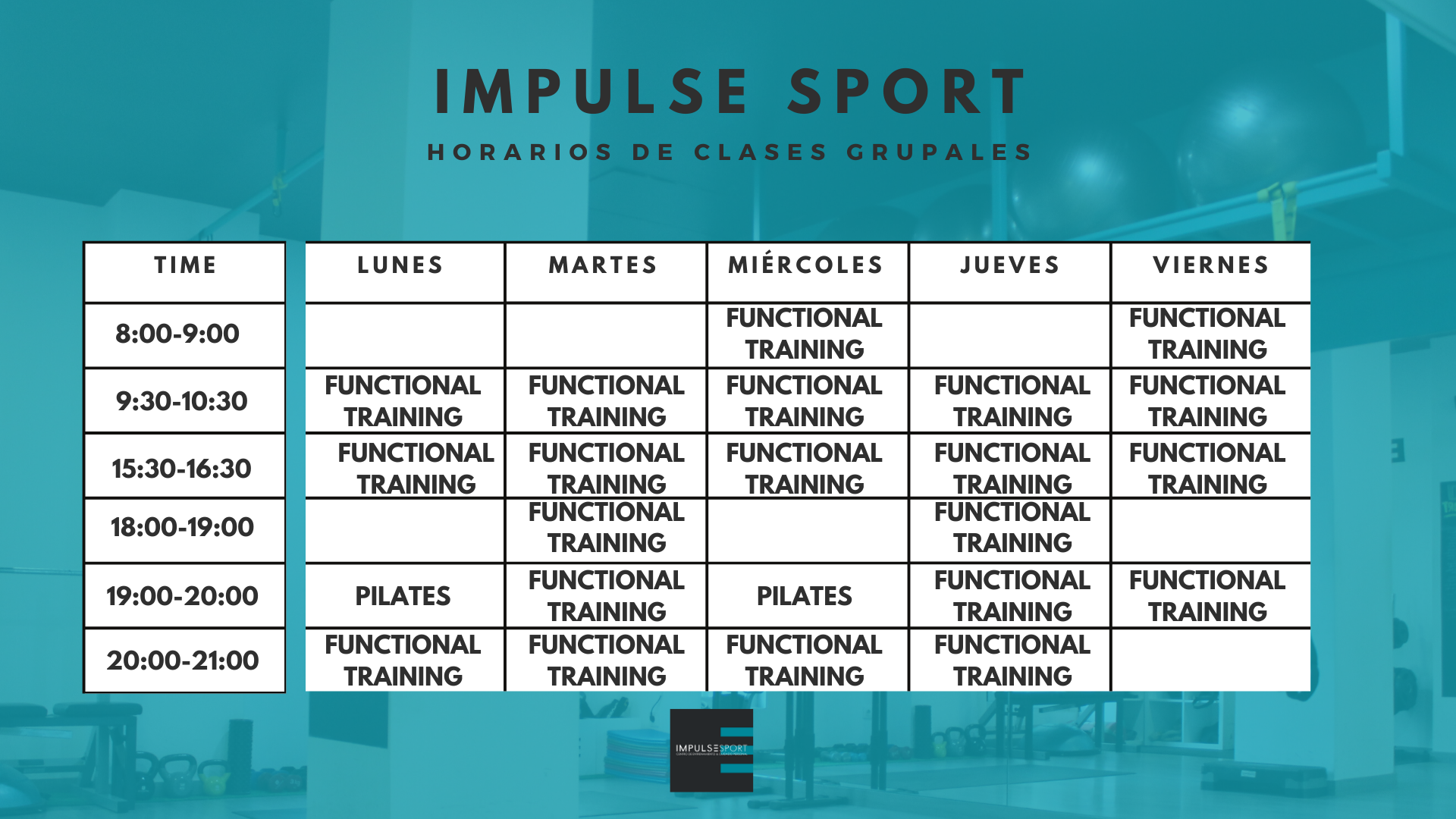 HORARIO GRUPALES IMPULSE