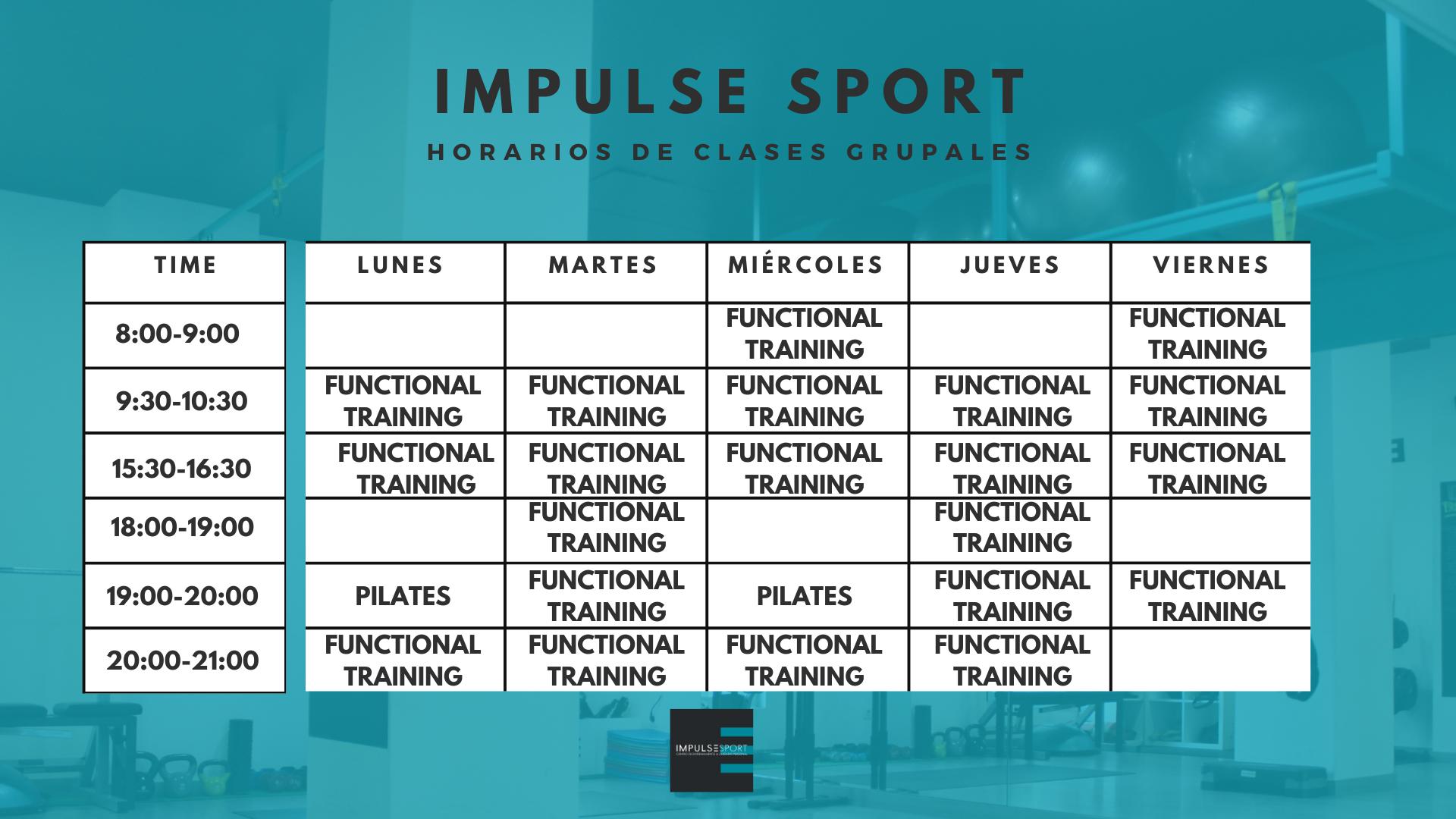 HORARIO GRUPALES IMPULSE